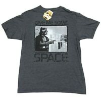 """NEW Star Wars Darth Vader """"Give Me Some Space"""" Men's T-Shirt Gray • Large"""