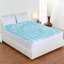 "New Mattress Topper Gel Memory Foam 2"" Orthopedic Pad Comfort Rx Bed Cover Firm"