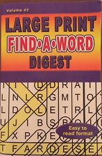 Large Print Find A Word Digest Crossword Puzzle Easy to Read Format