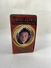 Lord of The Rings Arwen Light Up Glass Goblet. Bk Exclusive 2001