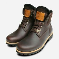 010ff4a356ae2b Panama Jack Dark Brown Igloo Warm Lined Trekking Boots