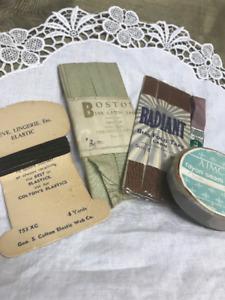 Vintage Bias Tape~Lingerie Elastic~ Rayon Seam Binding