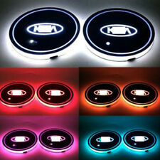 2x Colorful Auto Interior Atmosphere Light LED Car Cup Holder Pad Parts Fit KIA