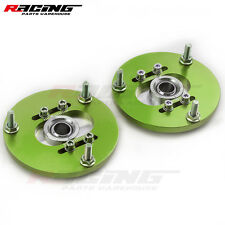 Green Camber Plate 2PCS For BMW 3 Series E36 92-99 Front Coilover Top Mount Kit