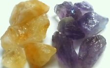 3lb Amethyst, Citrine chunks Collection Rough geode Gemstones mineral