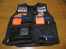 Official Nerf N-Strike Elite Series Tactical Vest Black Blue with Clips & Darts