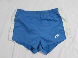 Vtg 1970s 70s Nike Orange Tag Running Shorts W/ Liner Blue Sz M USA Made Sprint