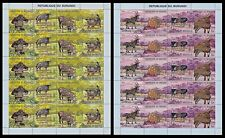 Burundi 1971 Stamps ANIMALS overprinted OLYMPIC GAMES ANNIV. in MNH Full sheets