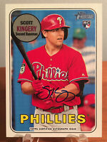 2018 Topps Heritage Scott Kingery Real One RC AUTO Autograph #ROA-SK Phillies