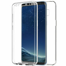 360° Front And Back Slim TPU Clear Gel Cover Case For Samsung & Iphone