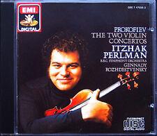 PERLMAN: PROKOFIEV Violin Concerto 1 2 ROZHDESTVENSKY CD EMI Itzhak Gennadi