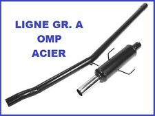 LIGNE ECHAPPEMENT GROUPE A OMP PEUGEOT 205 1.6 / 1.9 GTI EN ACIER