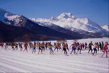 697078 Engadin SCI maratona Silvaplana Svizzera A4 FOTO STAMPA