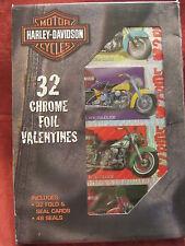 Harley-Davidson  32 Chrome Foil Valentines and Seals  W-03