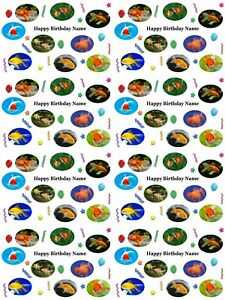 Goldfish Personalised Birthday Gift Wrapping Paper ADD NAME CHOOSE BACKGROUND