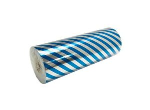 "Jewelry 7.5"" x 150 ft Blue Stripe Silver Foil Gift Wrapping Paper All Occasions"