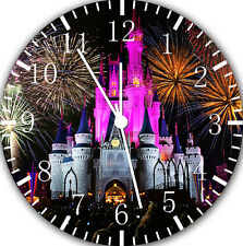 """Disney Castle Firework wall Clock 10"""" will be nice Gift and Room wall Decor E144"""