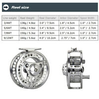 3/4 5/6 7/8 9/10WT Fly Fishing Combo CNC Machined Fly Reel Fly Line