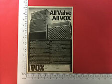 Vox products advert for V15 combo and V125 from 1980