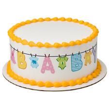 Baby Shower Clothesline Edible Cake Border  - Set of 3 Strips