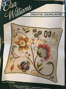 Elsa Williams Jacobean Scroll Pillow crewel kit