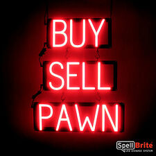 SpellBrite Ultra-Bright BUY SELL PAWN Sign Neon look LED performance