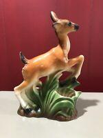 Vintage Mid Century Modern Doe Deer Ceramic Pottery Planter Figurine