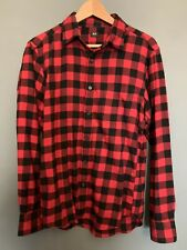 Uniqlo red and black check flannel shirt. Small. Worn once