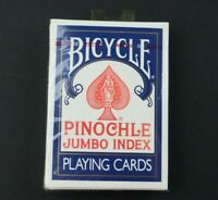 Bicycle Pinochle Jumbo Index 44 Playing Cards Brand New Unopened