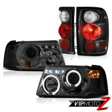 Headlights Projector Angel Eye Black Rear Tail Lamps 2001-2011 Ford Ranger XLT