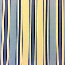 SM08 Yellow & Blue Stripe Geo Patio Awning Indoor Outdoor Home Decor Fabric
