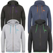 New Mens Tokyo Laundry Hanover Cotton Rich Zip Up Contrast Hoodie Size S - XXL
