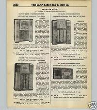 1939 40 PAPER AD 3 PG Sparton Radio Radios Floor Console 8 Tube Portable Table