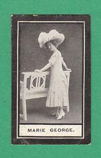 WILLS  SCISSORS - RARE MUSICAL HALL CELEBRITIES CARD -  MARIE  GEORGE  -  1911