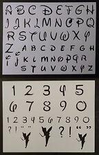 "Disney Alphabet Letters Numbers 1.2"" Font 11"" x 8.5"" Custom Stencil FREE SHIP"