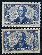 VARIETE  N°:541- ( Bleu sur jaune + le  normal )- neuf**- La Perouse