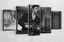 Scarface Tony Montana Gangster Canvas Five Piece Large Framed Wall Print Home