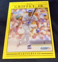 1991 Fleer Ken Griffey Jr. 'Bat .300' #450 Seattle Mariners PSA 10 GEM MT