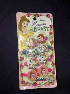 DISNEY'S BEAUTY AND THE BEAST BARRETTES 1992 sealed new IN PACKAGE RARE HTF