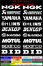 KIT STICKERS  ADESIVI KIT SPONSOR TECNICI MOTO CROSS T MAX QUAD DUNLOP AKRAPOVIC