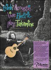 Michael Hedges Takamine LTD-92 acoustic/electric guitar ad 8 x 11 advertisement