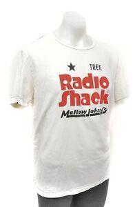 Radio Shack Trek Pro Cycling Mellow Johnny's Short Slv Cotton Tee Men XL White