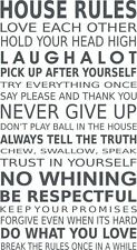 HOUSE RULES quotes interior designer wall decal vinyl sticker love