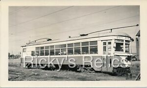 B&W Photo Oklahoma Railway Sys #229 Oklahoma City OK 1946 ex-Rockford Interurban