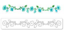 Sizzix Sizzlits Decorative Strip Die - Garden Vine - Flowers, Buds