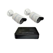2CH 1.0MP 720P HD IP Camera Waterproof System 4CH NVR CCTV Outdoor Security KIT