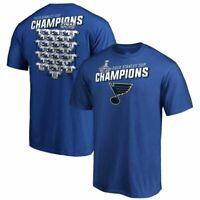 St. Louis Blues 2019 Stanley Cup Champions Locker Room Men's T-Shirt blue