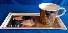 GOEBEL GUSTAV KLIMT THE KISS ART & COFFEE LIMITED EDITION COFFEE CUP & TRAY SET