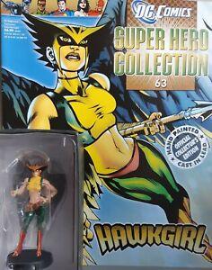 DC COMICS SUPER HERO COLLECTION #63 HAWKGIRL englisch EAGLEMOSS Hand Painted Cas