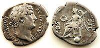 Roma-Adriano. Denario 134-138 d.C. plata 3,3 g. Bonita y escasa.